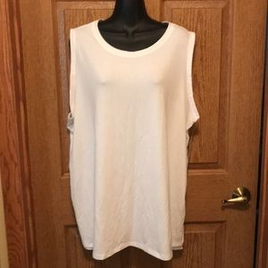 Terra Sky white sleeveless top 1X, 16W-18W